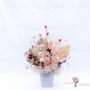Pink dried flower arrangemet