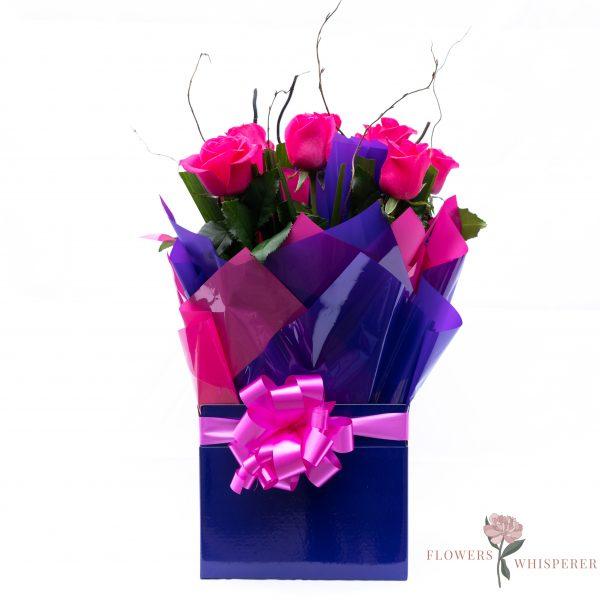 Hot Pink Rose Box